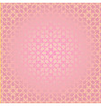 arabesque geometric seamless contour pink pattern vector image vector image