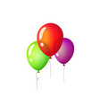 balloons isolated flat vector image vector image