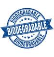 Biodegradable round grunge ribbon stamp