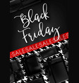 black friday sale promotional poster with vector image vector image