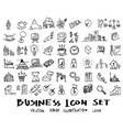 business doodles sketch ink eps10 vector image