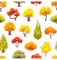 cartoon autumn trees illusrtation vector image