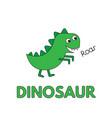cartoon dinosaur flashcard for children vector image vector image