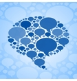 Chat bubble symbol on blue background vector image vector image