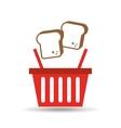 chopped bread basket vector image vector image
