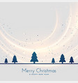 christmas tree landscape seasonal background vector image vector image