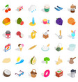 coffee icons set isometric style vector image vector image