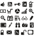 Collection icons vector image