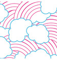 color line nature clouds rainbow in the sky vector image vector image