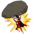 comic super girl throwing big rock vector image vector image