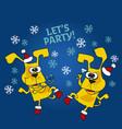 cool yellow dog mascot cartoon vector image vector image