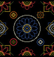 cross stitch for cloth vector image vector image