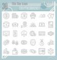 cryptoccurency thin line icon set bitcoin symbols vector image vector image