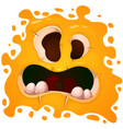 cute funny crazy monster character helloween vector image
