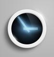 digital clock with blue arrows vector image