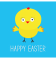 Easter chicken Blue background Card vector image vector image