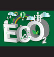 eco green city design3disometric vector image vector image