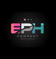 eph e p h three letter logo icon design vector image vector image