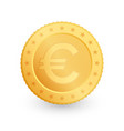 euro gold coin isolated on white background vector image