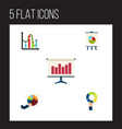 flat icon chart set of graph segment easel and vector image vector image