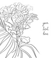 floral sketch card vector image vector image