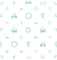 girl icons pattern seamless white background vector image vector image