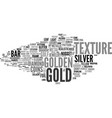 gold word cloud concept vector image vector image