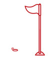 golf flag isolated icon vector image