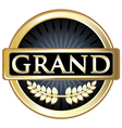 Grand Gold Label vector image vector image