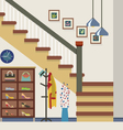 Hallway Decoration vector image