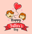 happy father day hand draw art vector image vector image