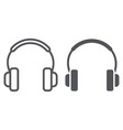 headphones line and glyph icon music and sound vector image vector image