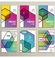 hexagon infographics set 6 template for vector image vector image