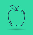 isolated icon of linear apple vector image vector image