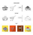 isolated object of food and drink logo collection vector image vector image
