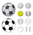 isolated object sport and ball symbol vector image vector image