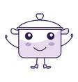 kitchen pot kawai character vector image vector image
