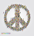 large group of people gathered together in peace vector image vector image