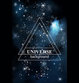 lights sparkle dark background universe vector image