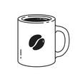 line art coffee mug vector image