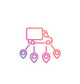 logistics delivery service icon line art vector image vector image