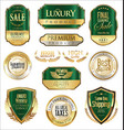 luxury retro badge and labels collection 7 vector image vector image