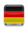 Metal icon of Germany vector image