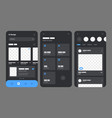 mobile app concept flowchart with ui elements vector image vector image