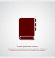 notebook icon simple vector image vector image