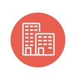 Office buildings thin line icon vector image vector image