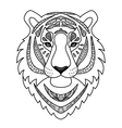 Ornamental White Tiger vector image vector image