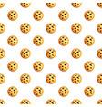 peanut cookies pattern seamless vector image vector image