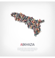people map country Abkazia vector image vector image