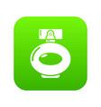 perfume bottle spray icon green vector image vector image